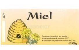 Etiketten honing met korf 250st