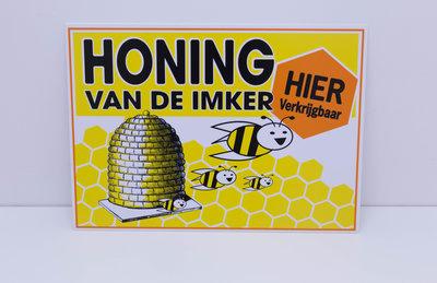 PVC plaat - honing van de imker